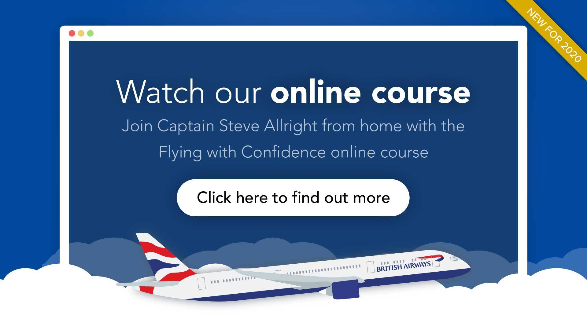 Online course - fear of flying courses from Flying With Confidence